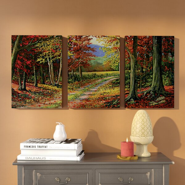 Forgotten Road 3 Piece Painting Print on Wrapped Canvas Set by Three Posts