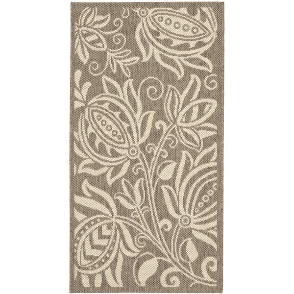 Marcella Brown/Tan Indoor/Outdoor Area Rug by August Grove
