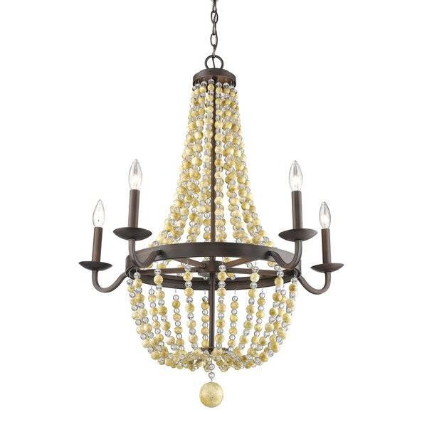 Prather 5 - Light Candle Style Empire Chandelier by Bay Isle Home Bay Isle Home