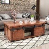 Devereaux Solid Wood Block Coffee Table with Storage by Loon Peak®