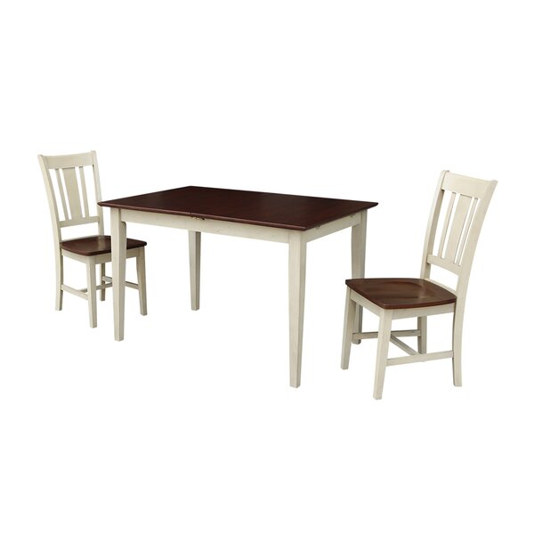 Allyssa Butterfly 3 Piece Drop Leaf Solid Wood Dining Set by August Grove August Grove