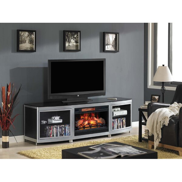 Brant 75 TV Stand with Electric Fireplace by Orren Ellis