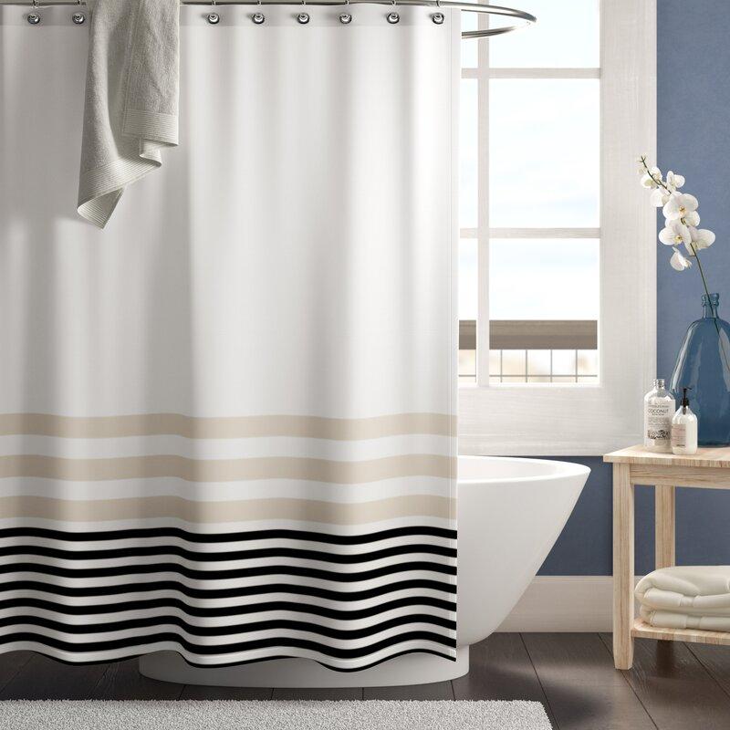 Longshore Tides Qu Stripes Single Shower Curtain Reviews Wayfair
