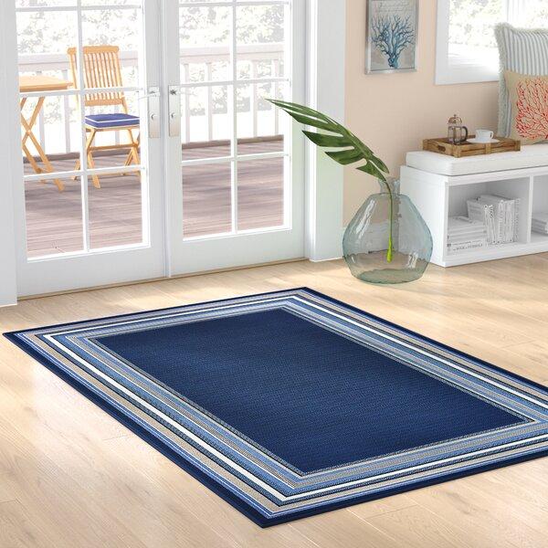 Hadiya Navy Blue Indoor/Outdoor Area Rug by Highland Dunes
