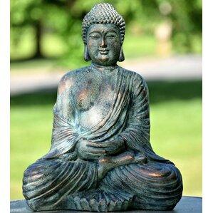 tall antique bronze buddha statue