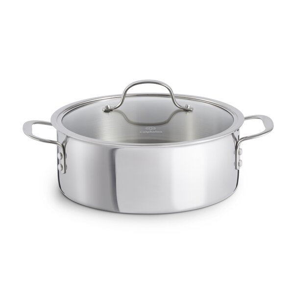 5 Qt. Tri-ply Stainless Steel Round Dutch Oven by Calphalon