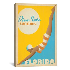 'Art and Soul of America State Pride Collection: Florida (Dive Into Sunshine)' Vintage Advertisement by East Urban Home