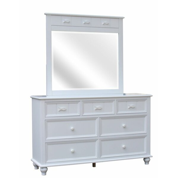 Eli 7 Drawer Double Dresser with Mirror by Breakwater Bay