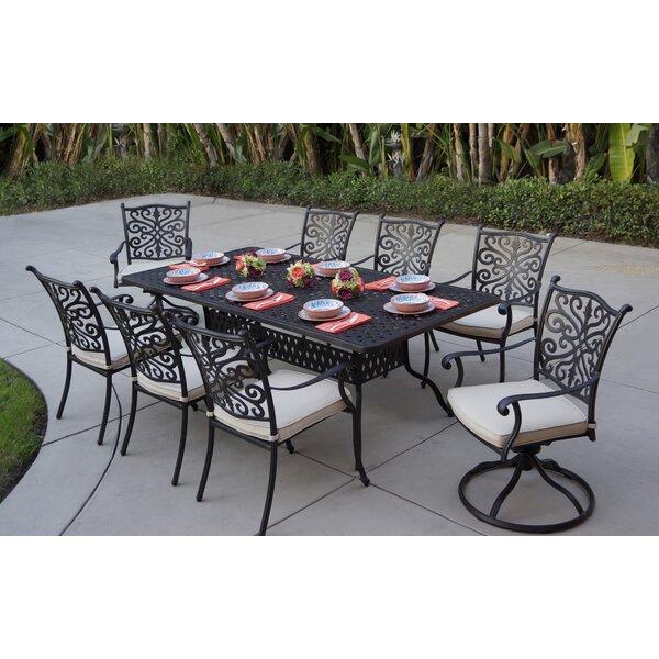 Belton 9 Piece Dining Set with Cushions by Fleur De Lis Living Fleur De Lis Living