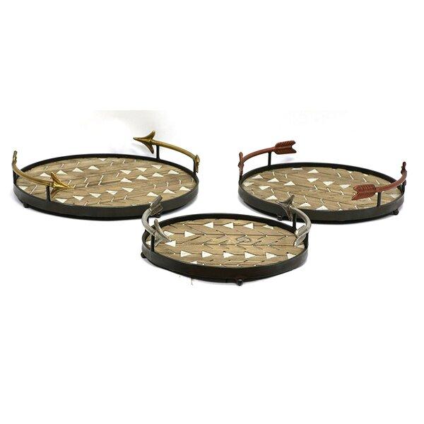 Arrowhead 3 Piece Accent Storage Tray Set by Jeco Inc.