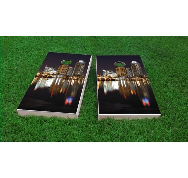 St. Petersburg Skyline Cornhole Game Set by Custom Cornhole Boards