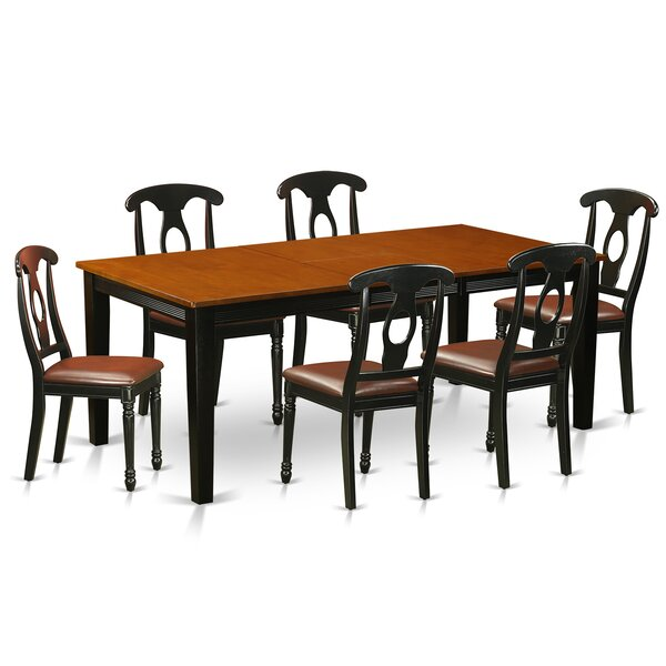 Pilger Modern 7 Piece Wood Dining Set by August Grove