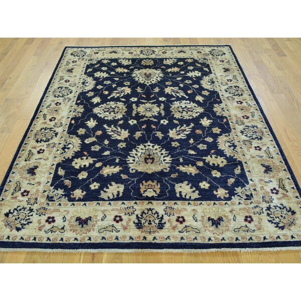 One-of-a-Kind Beaumont Hand-Knotted Blue Wool Area Rug by Isabelline