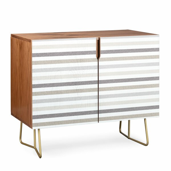 Linen Stripes 2 Door Accent Cabinet By East Urban Home