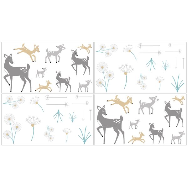 Forest Deer Collection Wall Decal (Set of 4) by Sweet Jojo Designs
