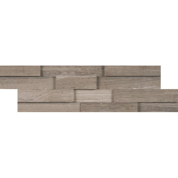 3D Marble Mosaic Tile in Gray/Oak by MSI