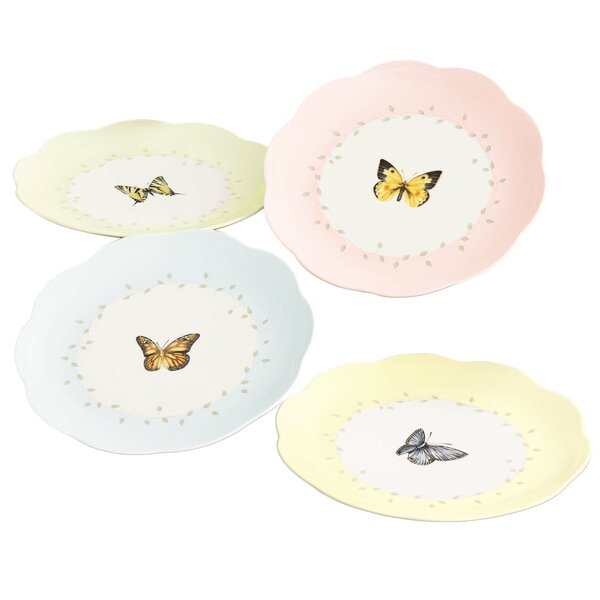 4 Piece Butterfly Meadow 8 Dessert Plate by Lenox