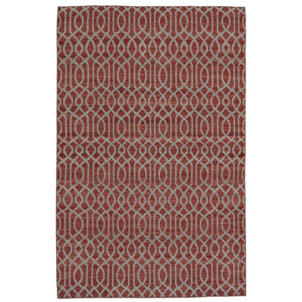Bannerdown Hand-Loomed Red Area Rug by Wade Logan