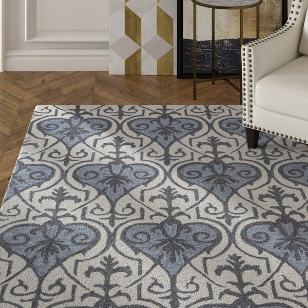 Doobay Hand-Tufted Blue Area Rug by House of Hampton