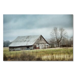 'An Old Gray Barn' Photographic Print on Wrapped Canvas by Trademark Fine Art