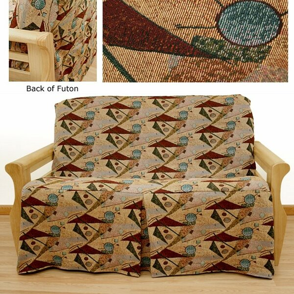 Mardi Gras Box Cushion Futon Slipcover by Easy Fit