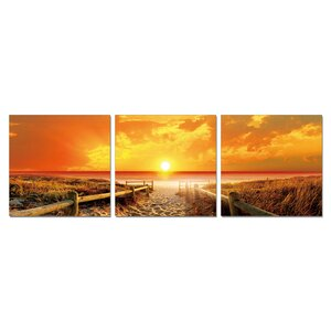 Furinno Senia Wall Mounted Triptych 3 Piece Photographic Print Set by Furinno