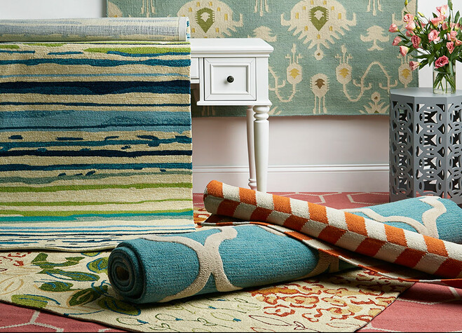Colorful Patterned Area Rugs