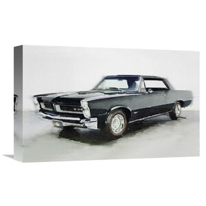 '1966 Pontiac GTO' Painting Print on Wrapped Canvas by Naxart