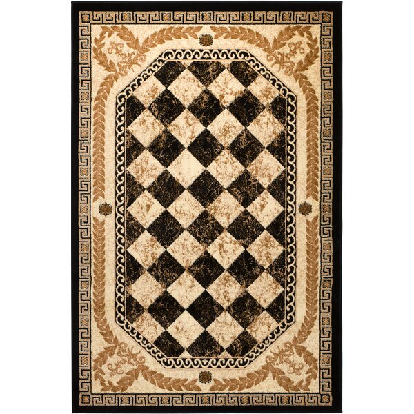 Janis Black Area Rug by Fleur De Lis Living