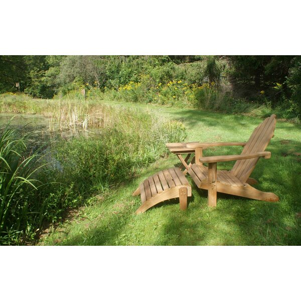 Teak Adirondack Chair with Ottoman by Jewels of Java