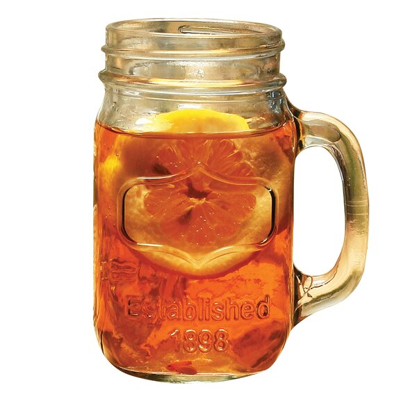 16 oz. Crystal Mason Jar (Set of 4) by Wine Enthusiast