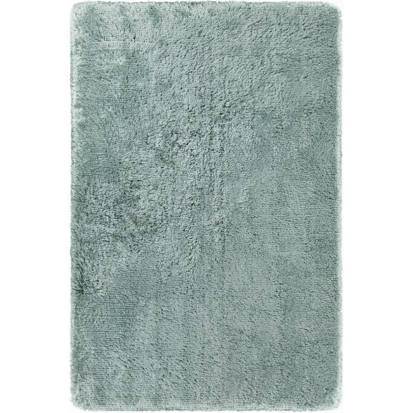Joellen Textured Contemporary Shag Aqua Blue Area Rug by Everly Quinn