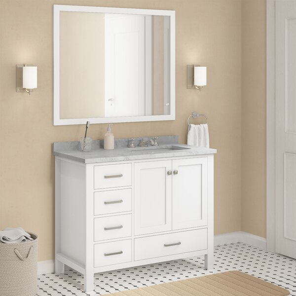 Marine 43 Single Bathroom Vanity Set with Mirror by Andover Mills