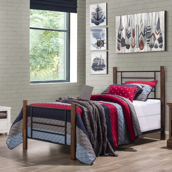 Cottleville Metal Wood Posts Standard Bed by Loon Peak