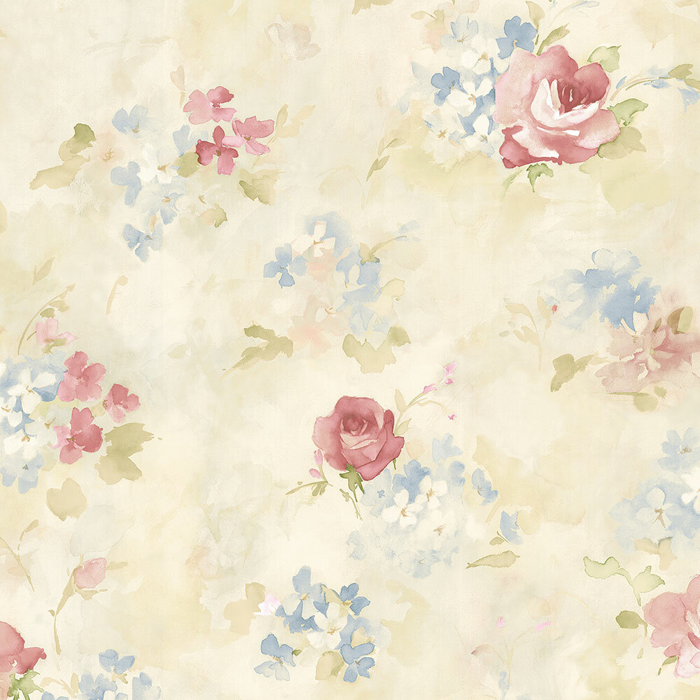 Ophelia Co Tierra Floral Watercolor Roll Wallpaper Reviews