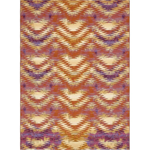 Avila Red Indoor/Outdoor Area Rug by Brayden Studio