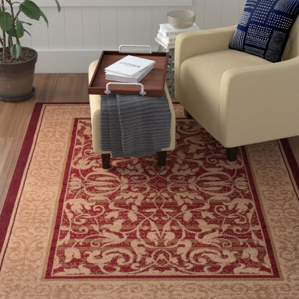 Jeppesen Red Area Rug by Winston Porter