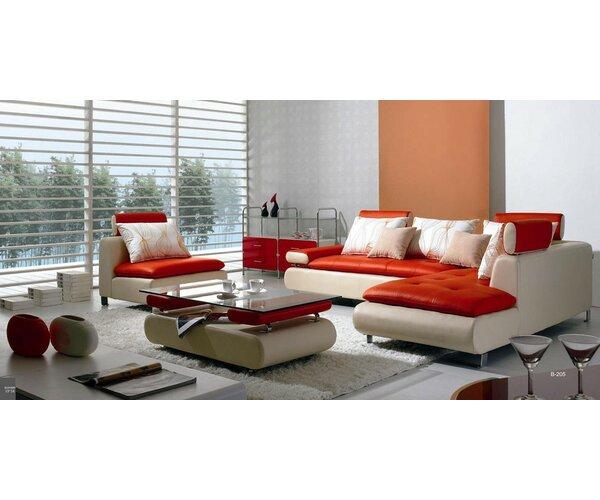 Orren Ellis Corktown 4 Piece Living Room Set U0026 Reviews | Wayfair