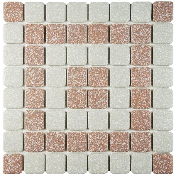 Minerva 1.3 x 1.3 Porcelain Mosaic Tile in Beige by EliteTile