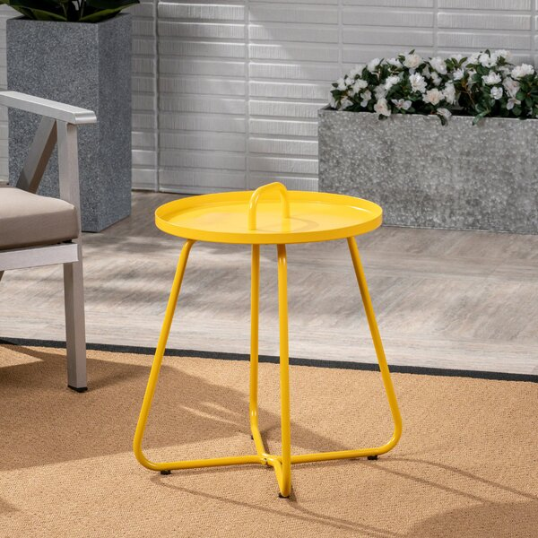 Stroup Aluminum Side Table by Wrought Studio
