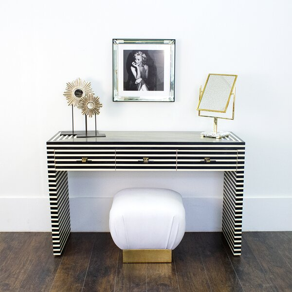 Worlds Away White Console Tables