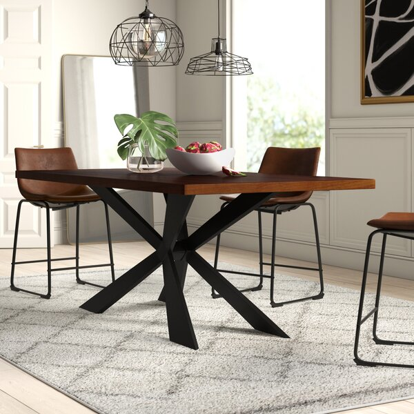Dupont Wood Dining Table by Mercury Row