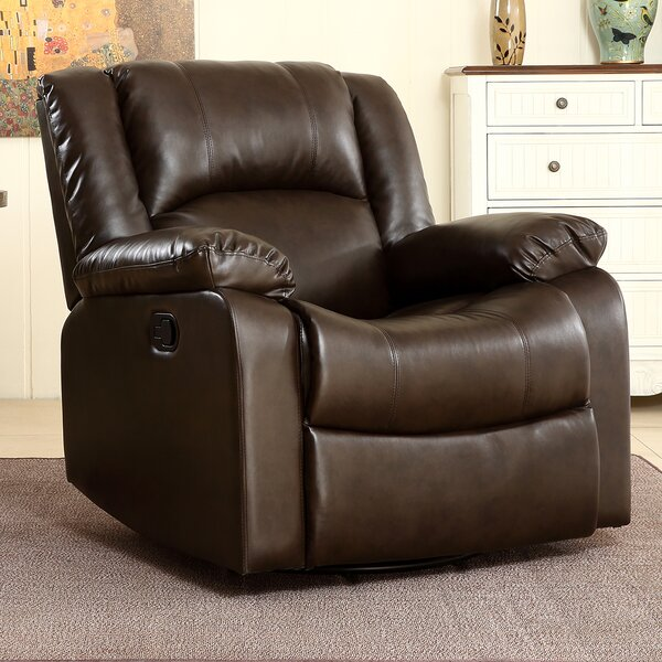 Hubbell Manual Swivel Glider Recliner by Ebern Des