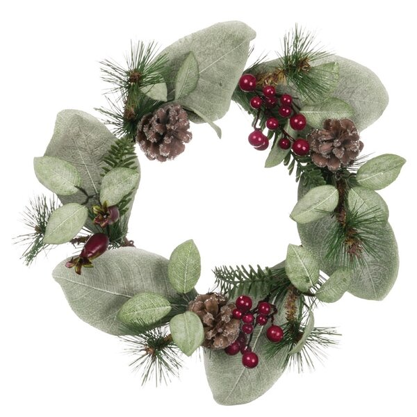12 Pine, Cone and Berry Wreath (Set of 2) by The Holiday Aisle
