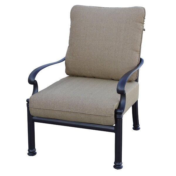 Batista Patio Chair with Cushion (Set of 4) by Fleur De Lis Living