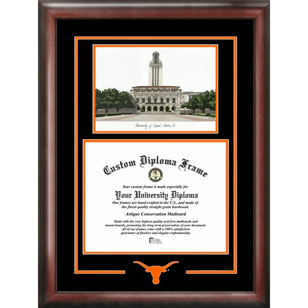 NCAA Texas Longhorns Spirit Graduate Diploma Picture Frame by Campus Images
