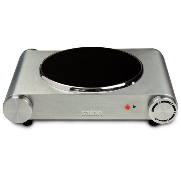 Portable 12 Electric Cooktop with 1 Burner by Salton