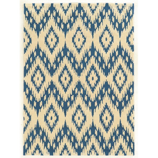 Askins Hand-Tufted Blue/Ivory Area Rug by Wrought Studio