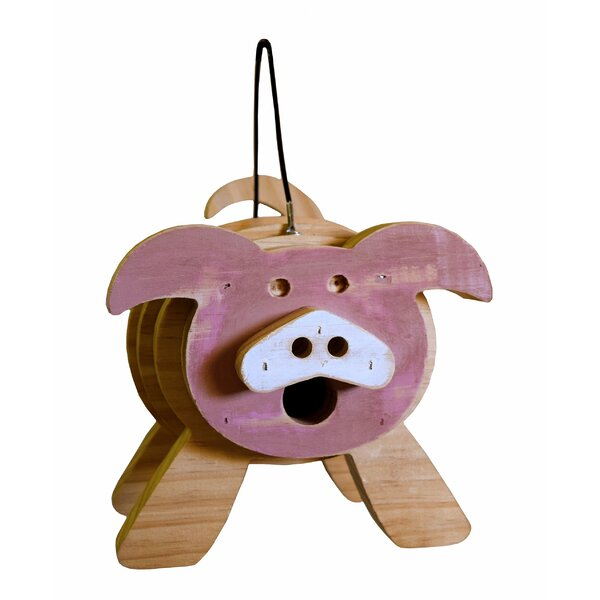 Pig Stacked 9 in x 9 in x 8 in Birdhouse by 1000 West Inc