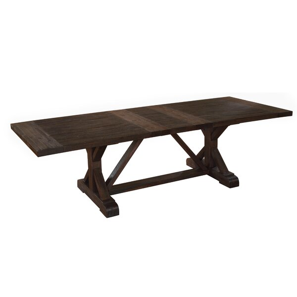 Stalvey Extendable Solid Wood Dining Table by Millwood Pines